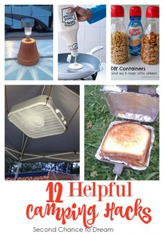 Camping season is coming fast! I've gathered some Camping Hacks to help you have a successful camping trip.