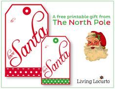 I used these Free Printable From Santa Gift tags last year! so adorable! #Christmas