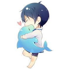 Haru via Tumblr We Heart It ❤ liked on Polyvore featuring fillers, anime, free and kawaii