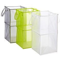 Got the silver one and love it! - The Container Store > Double Folding Mesh Cube