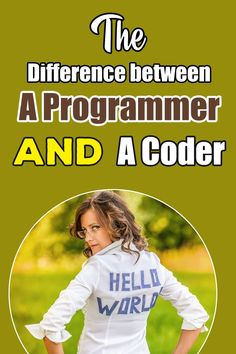 """The Difference between a Programmer and a Coder People working with the computer and the programming world will easily recognize terms like """"coding"""" and """"programming"""". This article will compare there terms and explain the differences. Learn Programming, Programming Languages, Computer Programming, Computer Coding, Computer Science, Data Science, Claves Wifi, How To Create Apps, Coding For Beginners"""