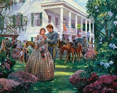 Mort Kunstler Civil War Puzzles by White Mountain Puzzles - Magnolia Morning - 1000 Piece jigsaw Puzzle American Civil War, American History, Civil War Art, New Puzzle, Puzzle 1000, Gone With The Wind, 5d Diamond Painting, Drawing Skills, Easy Paintings