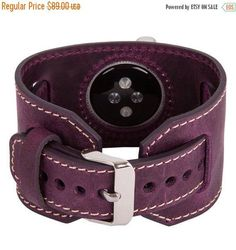 What a RICH purple! Pure luxury!! Apple Watch Band Genuine Leather