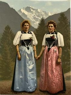Take a glimpse at the past with these stunning vintage photochrom photographs 19th Century Fashion, Switzerland, Vintage, The Past, Take That, Sari, History, Portrait, Berne