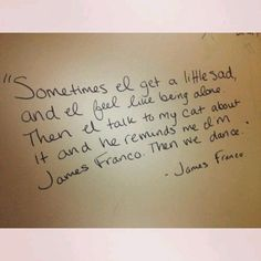 James Franco on - More than just a friendly companion