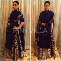 Kareena Kapoor Khan has been declared as the brand ambassador of a tea brand and the actress is currently in Goa to attend the brand's event - Begum Kareena Kapoor Khan looks regal in her latest outing in Goa - View Pics Pakistani Dresses, Indian Dresses, Indian Outfits, Designer Kurtis, Designer Dresses, Mode Bollywood, Bollywood Fashion, Bollywood Saree, Bollywood Actress