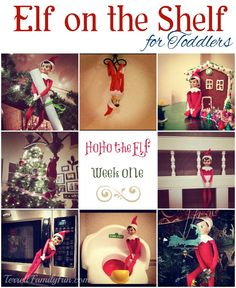 Elf on the Shelf Ideas for Toddlers and Young Children #christmas