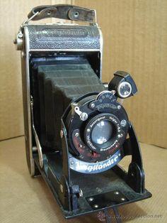 todocoleccion: cámara antigua de fuelle del año 1929. Antigua Voigtlander alemana.