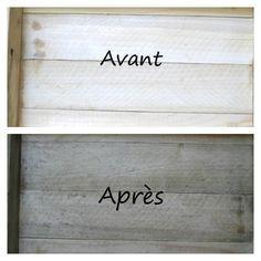Vieillir le bois avec une teinture naturelle faite maison