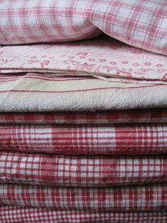 soft vintage fabric and linens