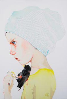 By Sophie Leblanc, Toile Bird.  #art #artwork #fineart