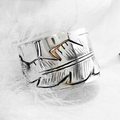 FEATHER ring ~ Bague PLUME - www.freekult.com