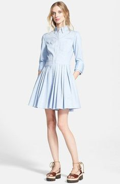 Michael Kors Double Cuff Oxford Shirtdress available at #Nordstrom