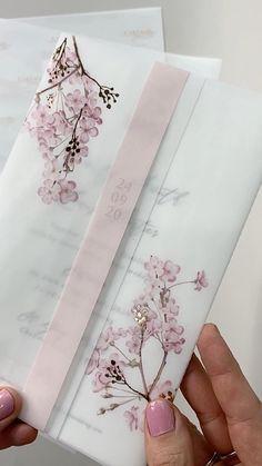 Wedding Invitation Card Design, Blush Wedding Invitations, Wedding Invitation Envelopes, Wedding Card Design, Elegant Wedding Invitations, Wedding Designs, Wedding Cards, Engagement Invitations, Floral Invitation