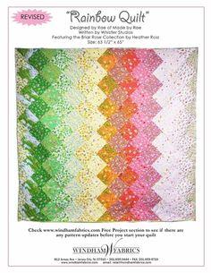 Rainbow Quilt by Rae using Briar Rose
