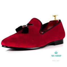 Men Wedding Shoes Red Velvet Loafer Accesorios Men s Wedding Shoes 52397955efa4