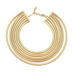Multi Strand Gold Necklace by Sarah Cavender