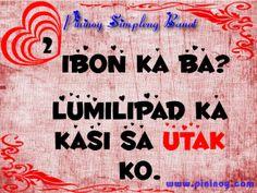 Pininoy Simpleng Banat Tagalog Quotes, Qoutes, Hugot Lines, Pick Up Lines, Alarm Clock, Picture Quotes, Quotations, Pickup Lines, Projection Alarm Clock