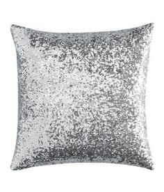 sparkly pillow. why can't we have H&M HOME in the states???  Only 8 pounds for this? yes please!