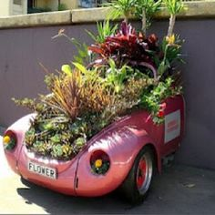 Cute!!!----Could we please just take that old rusting wreak & do something like this--better than a blue plastic heap.