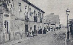 Calle Hernani en el barrio de Cuatro Caminos en el año 1914. #Miseria