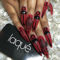 Free Womens Nails Greeting has a unique greeting card collection which includes betty boop,cartoons,birthday and holidays. Cute Acrylic Nails, Acrylic Nail Designs, Fun Nails, Nail Art Designs, Witchy Nails, Goth Nails, Gorgeous Nails, Pretty Nails, Gothic Nail Art