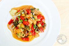 Sweet & Sour Tofu w/Vegetables (vegan, gluten-free) - www.VegetarianGastronomy.com