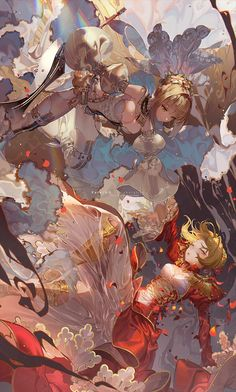 Nero Claudius (Bride) × Nero Claudius a.a the UMU Emperor from Fate/Grand Order This artwork is a collaboration with a very very very close frien. Fate Zero, Anime Art Girl, Manga Art, Otaku Anime, Fate Anime Series, Anime Artwork, Pretty Art, Animes Wallpapers, Anime Style