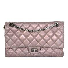 Chanel Muave Metallic Reissue 2.55 225 Medium Double Flap Classic Bag