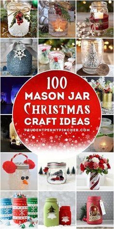 Mason Jar Christmas Decorations, Christmas Mason Jars, Mason Jar Diy, Homemade Christmas Gifts, Christmas Diy, Christmas Gift Ideas, Cheap Christmas Crafts, Christmas Gifts For Adults, Christmas Gift Baskets