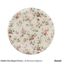 Sesame Street Character Faces Pattern. Shabby Chic Elegant Flower Floral Paper Plate  sc 1 st  Pinterest : sesame street paper plates - Pezcame.Com
