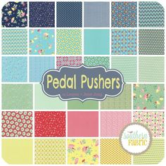 """Pedal Pushers - Charm Pack (5"""") (25080PP) by Lauren and Jessi Jung for Moda 