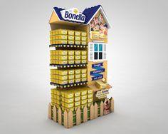 Cabecera Bonella Premium on Behance Stall Display, Pos Display, Visual Display, Display Design, Point Of Purchase, Point Of Sale, Merchandising Displays, Store Displays, Environmental Graphic Design