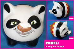 cerditos decorados - Buscar con Google Kung Fu Panda, Personalized Piggy Bank, Diy Y Manualidades, Panda Party, Cute Piggies, Pottery Painting, Craft Projects, Gift Wrapping, Creative