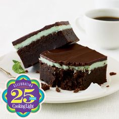 Chocolate-Mint Bars Recipe  http://www.cookinglight.com/food/top-rated-recipes/best-dessert-recipes-00412000075797/index.html