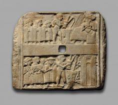 A Sumerian Wall Plaque Showing Libation Scenes