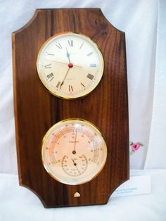 Vintage Hampton  Cuartz Clock And  Thermometer by ALEXLITTLETHINGS, $15.00