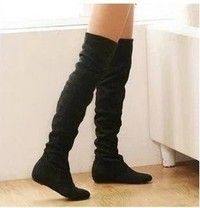 Wish | new fashion women boots winter spring ladies fashion flat bottom boots shoes over the knee high leg suede long boots brand designer boot
