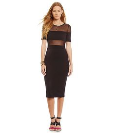 French Connection Linear Mesh Dress