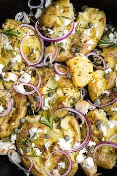 Greek Recipes, Vegetable Recipes, Vegetarian Recipes, Cooking Recipes, Healthy Recipes, Recipes With Feta, Capers Recipes, Feta Cheese Recipes, Potato Sides