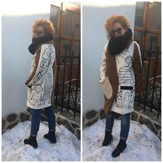 Painted oversized coat