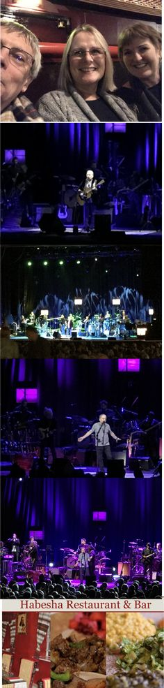 10/11/16. Over to Manchester for meal with some of the B clan at the Ethiopian restaurant followed by brilliant evening at the Apollo with Paul Simon. Ace!