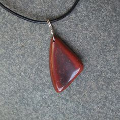 For lovers of RED!  Pendant necklace  Red Jasper & Hematite   by NaturesArtMelbourne, $49.49