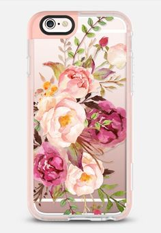 Casetify iPhone 7 Case and Other iPhone Covers - Watercolour Floral Bouquet - Transparent iPhone 6s Case by Ruby Ridge Studios | #Casetify