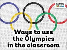 Use the Olympic Games as the starting point for learning in your classroom with our ENORMOUS collection of teaching ideas, activities and classroom resources! Classroom Decor Themes, Kindergarten Classroom Decor, Classroom Activities, In Kindergarten, Teambuilding Activities, Spanish Classroom, Classroom Setup, Teaching Activities, Olympic Idea