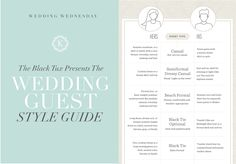 wedding guest style guide what to wear to weddings by The Katelyn James and The Black Tux