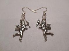 Tibetan Silver Little Cupid Dangle Earrings by MysticMountainJewels on Etsy