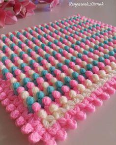 Diy_Crafts-Ready to Ship ~ Neopolitan Baby Blanket, Crochet Baby Blanket, Crochet Afghan, Baby Blanket Crochet, Crochet Afghans, Crochet Blanket Patterns, Baby Blanket Crochet, Baby Knitting Patterns, Crochet Yarn, Easy Crochet, Free Crochet, Crochet Flower, Puff Stitch Crochet