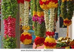 indian flower  garland | Indian Flower Garlands For Prayer Stock Photo 24337243 : Shutterstock