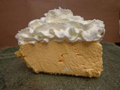 ORANGE KOOL-ADE No Bake CHEESECAKE: 1 graham cracker pie crust, 2 packages unsweetened Kool-Aid Orange powdered drink mix, 1 8oz softened cream cheese, 1 14oz can sweetened condensed milk, 1 8oz container Cool Whip